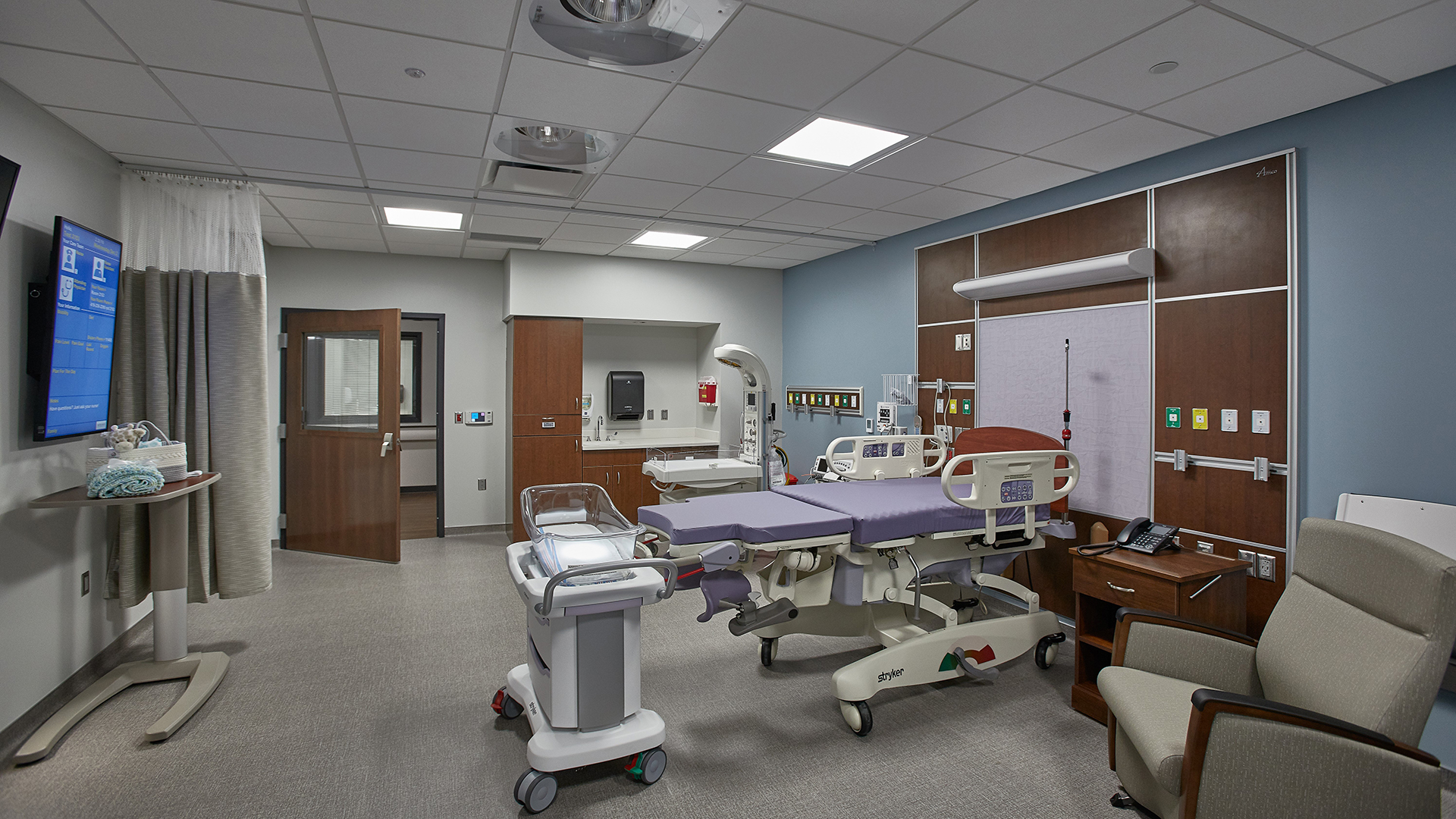 Van Wert Health Surgery and Inpatient Center Surgery Expansion Medium Patient Room