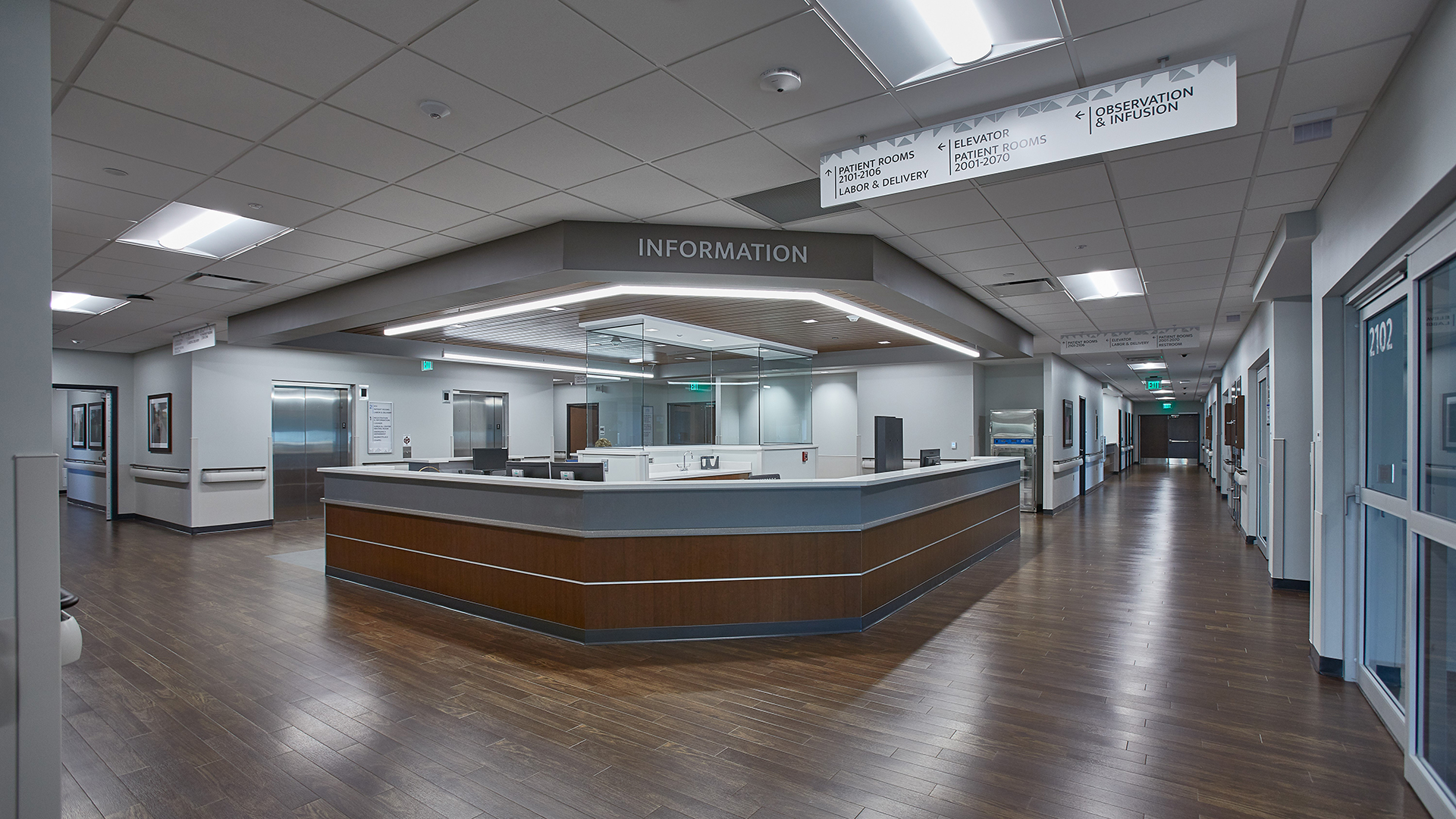 Van Wert Health Surgery and Inpatient Center Surgery Expansion Nurses Station