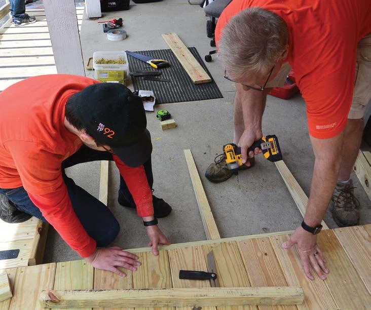 Design Collaborative Team volunteers to build homes