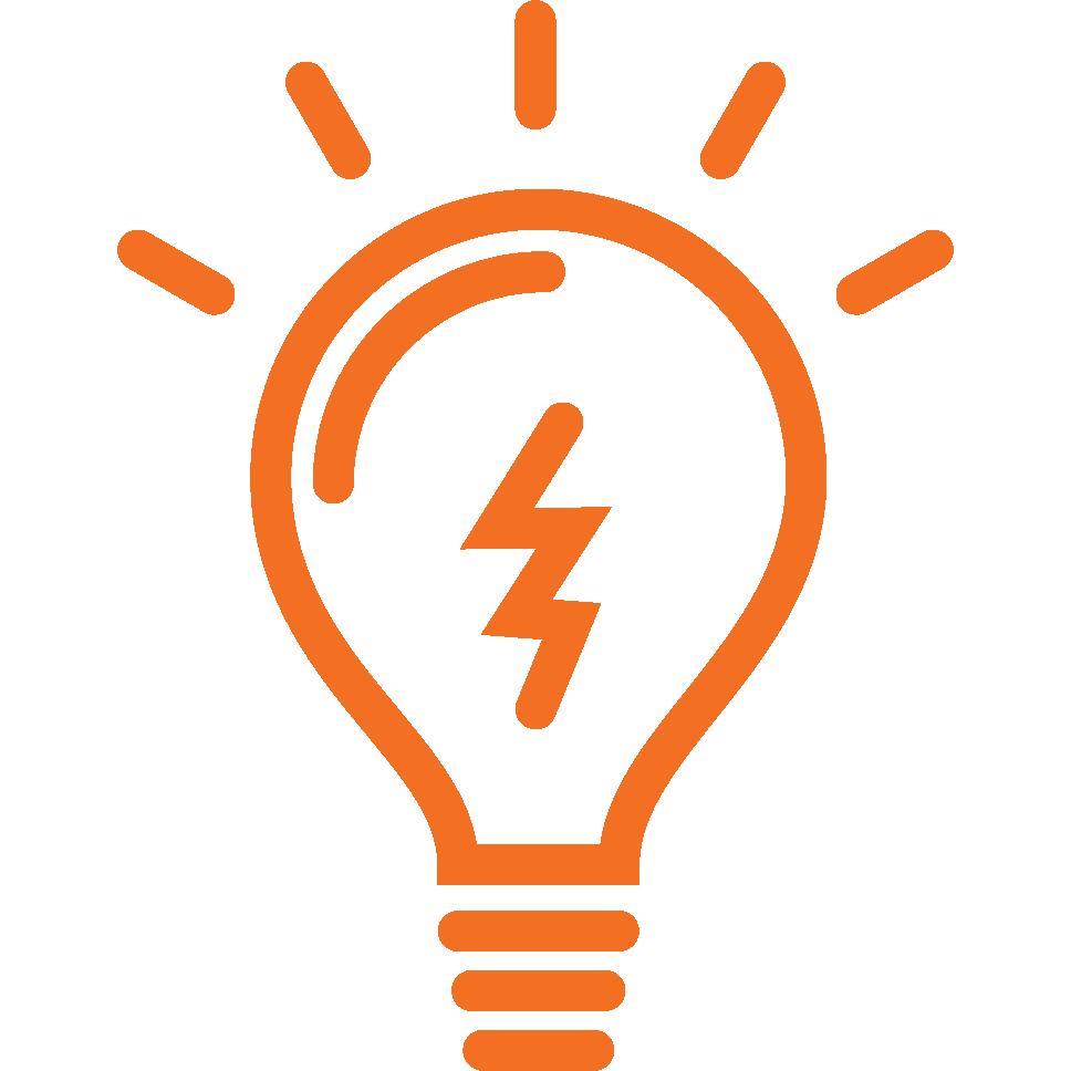 Electrical Engineer Icon Orange